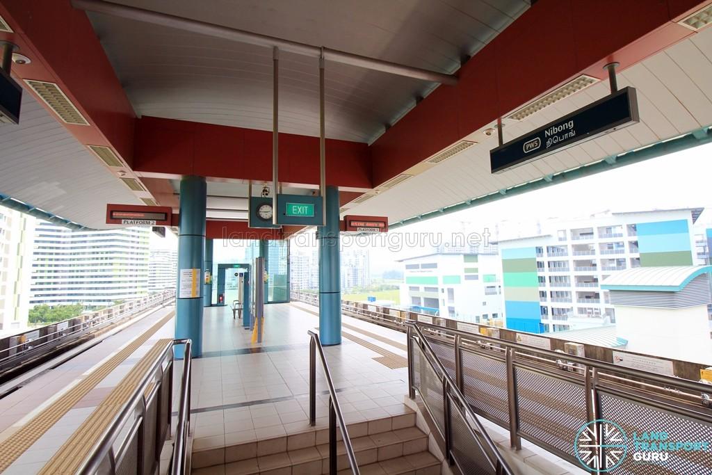 Nibong LRT Station - Platform level