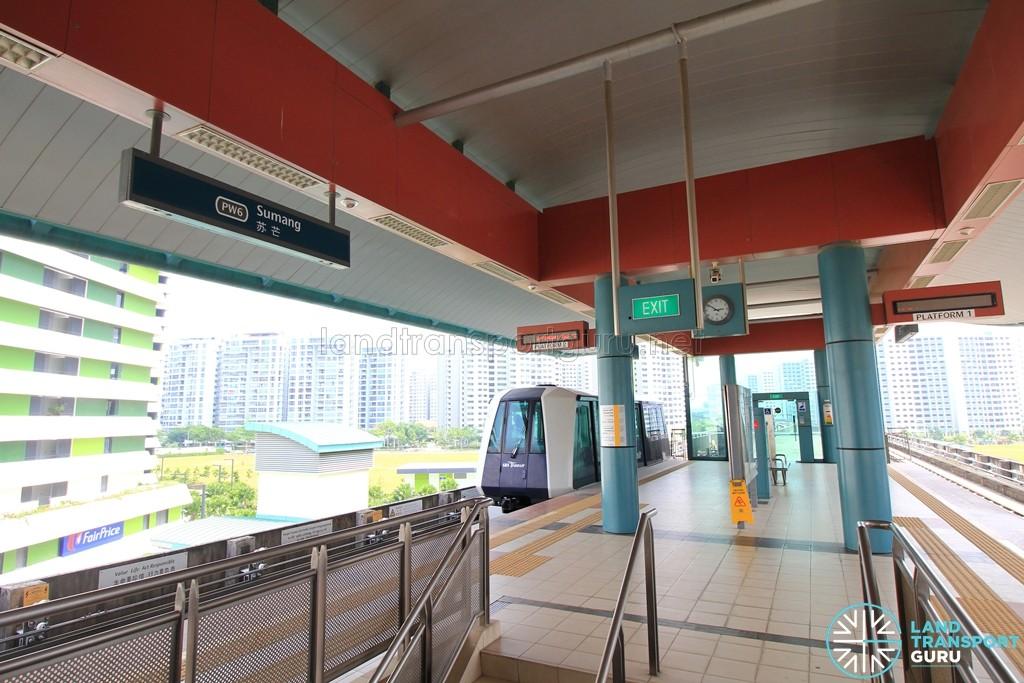 Sumang LRT Station - Platform level