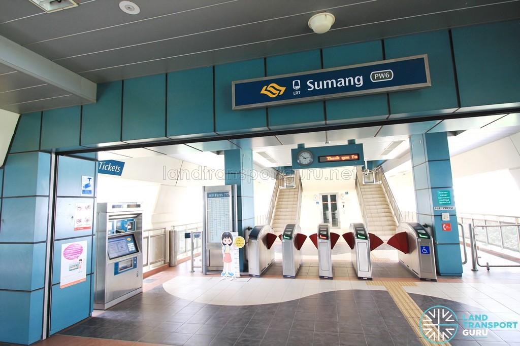 Sumang LRT Station - Concourse level faregates