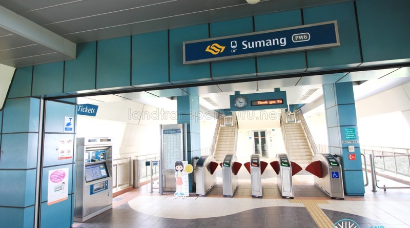 Sumang LRT Station - Concourse level faregates