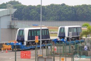New C810A LRT trains delivered to Sengkang Depot