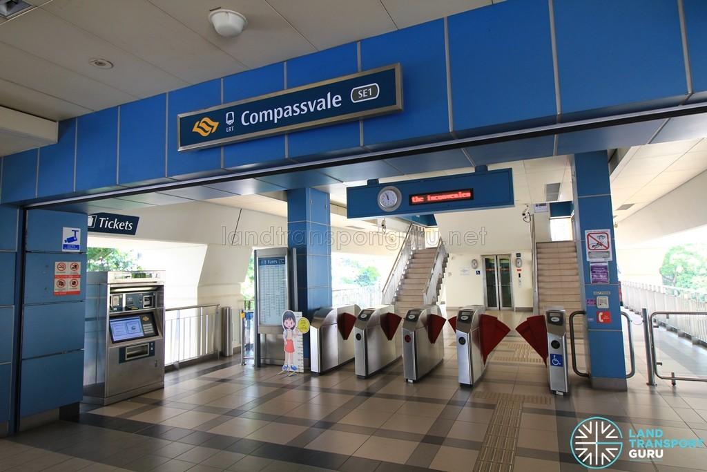 Compassvale LRT Station - Concourse level faregates