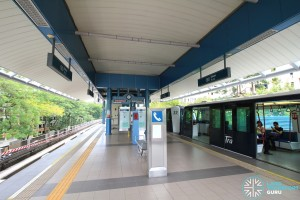 Bakau LRT Station - Platform level