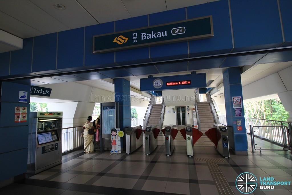 Bakau LRT Station - Concourse level faregates