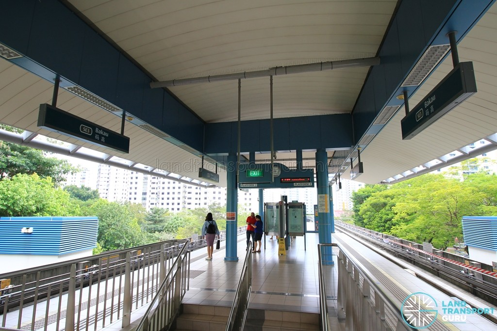 Bakau LRT Station - Platform level