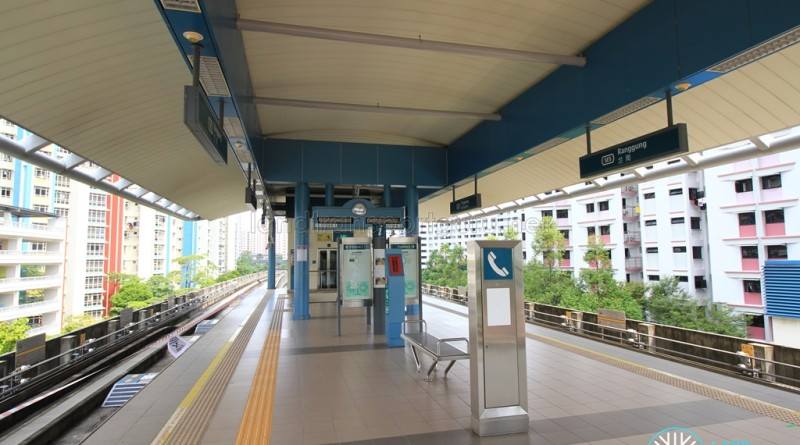 Ranggung LRT Station - Platform level