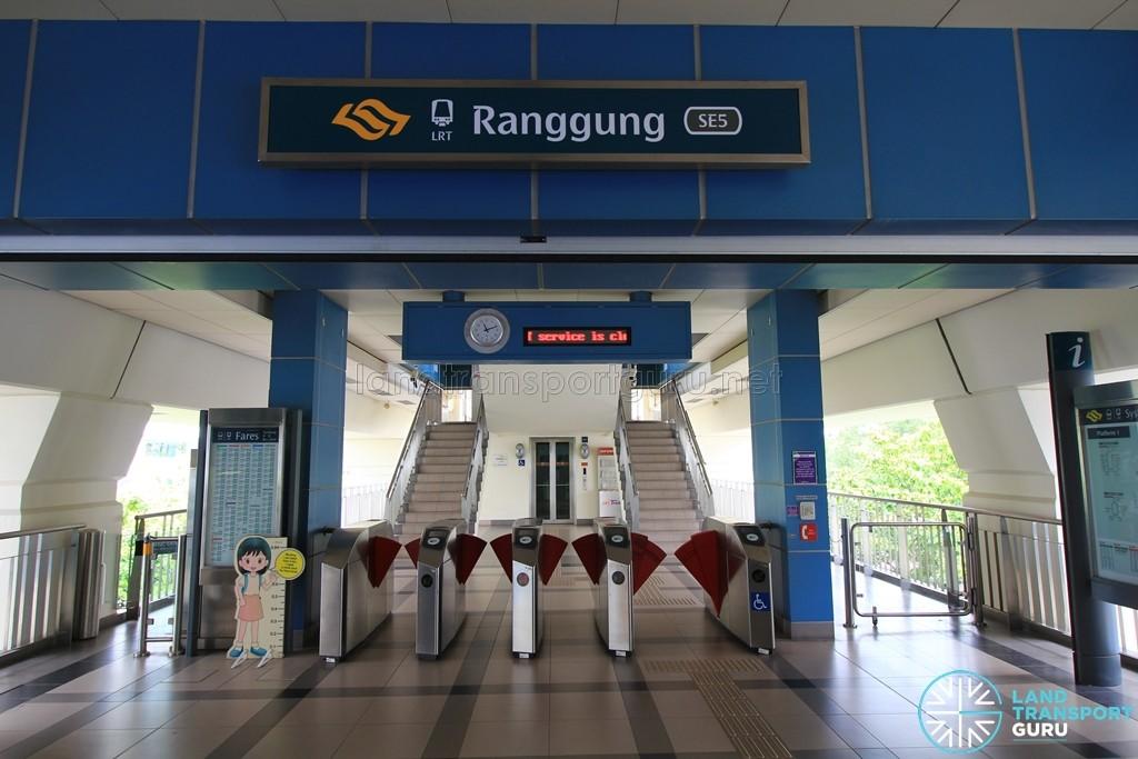 Ranggung LRT Station - Concourse level faregates