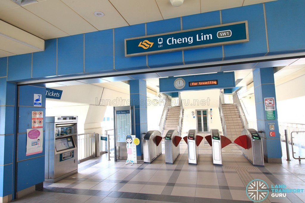 Cheng Lim LRT Station - Concourse level faregates