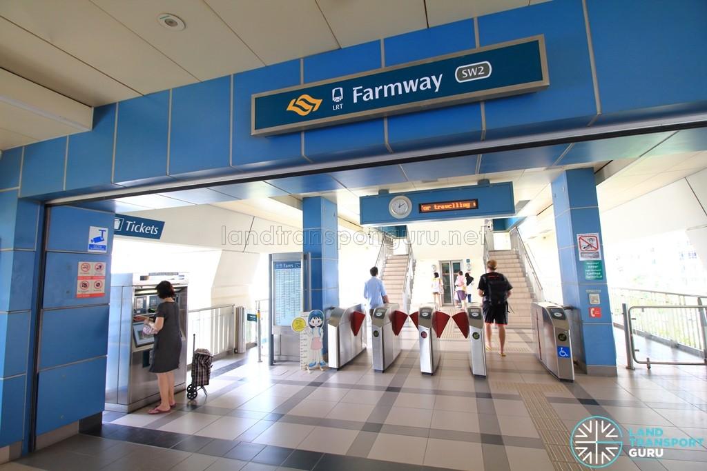 Farmway LRT Station - Concourse level faregates