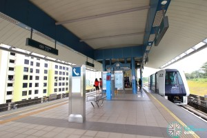 Kupang LRT Station - Platform level