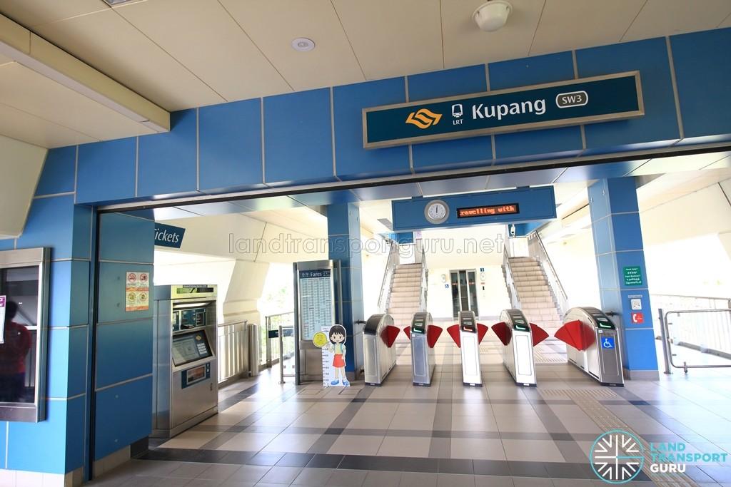 Kupang LRT Station - Concourse level faregates