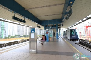 Thanggam LRT Station - Platform level