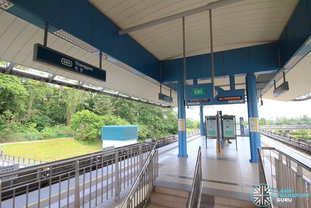 Thanggam LRT Station - Platform level