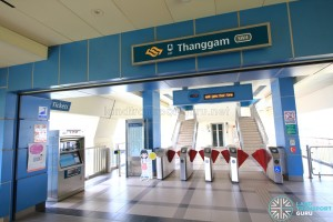 Thanggam LRT Station - Concourse level faregates