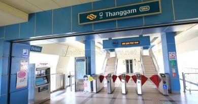 Thanggam LRT Station - Concourse level faregates