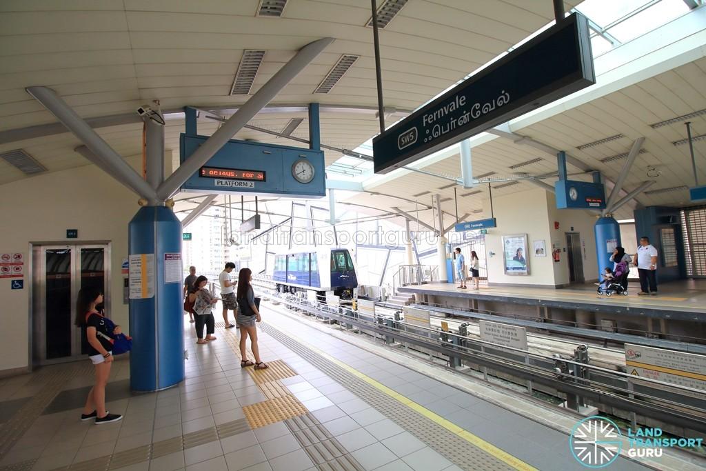 Fernvale LRT Station - Platform 2