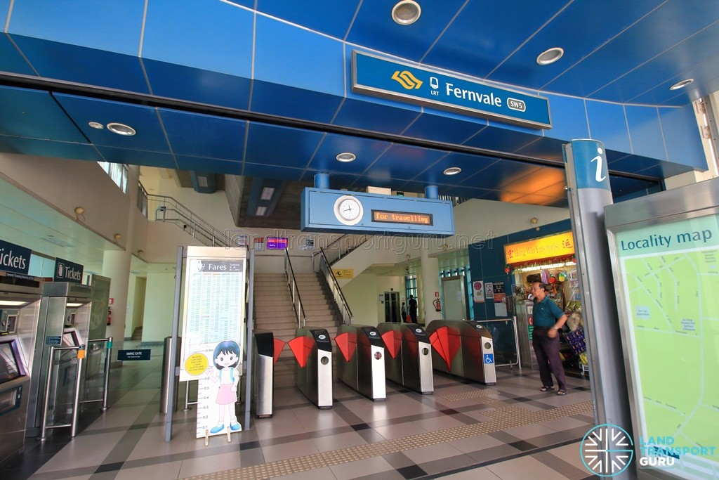 Fernvale LRT Station - Ground level faregates