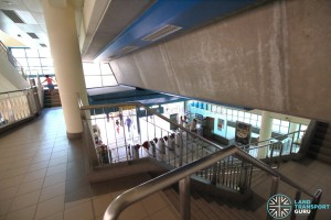 Fernvale LRT Station - View of concourse from staircase