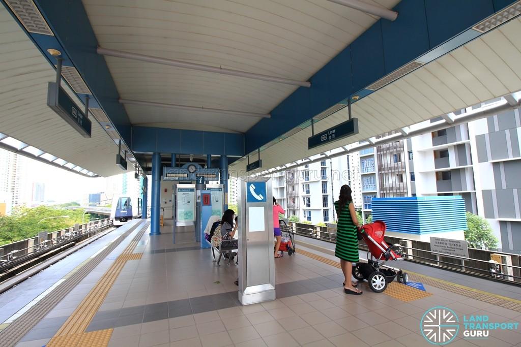 Layar LRT Station - Platform level