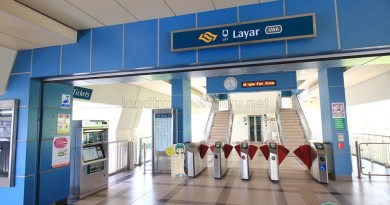 Layar LRT Station - Concourse level faregates
