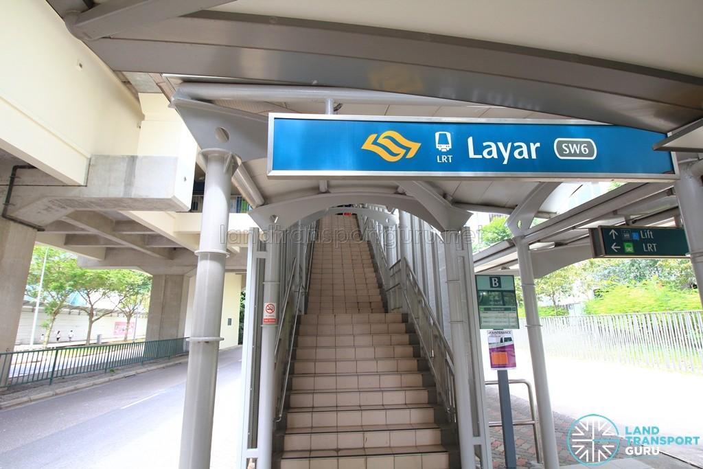 Layar LRT Station - Exit B