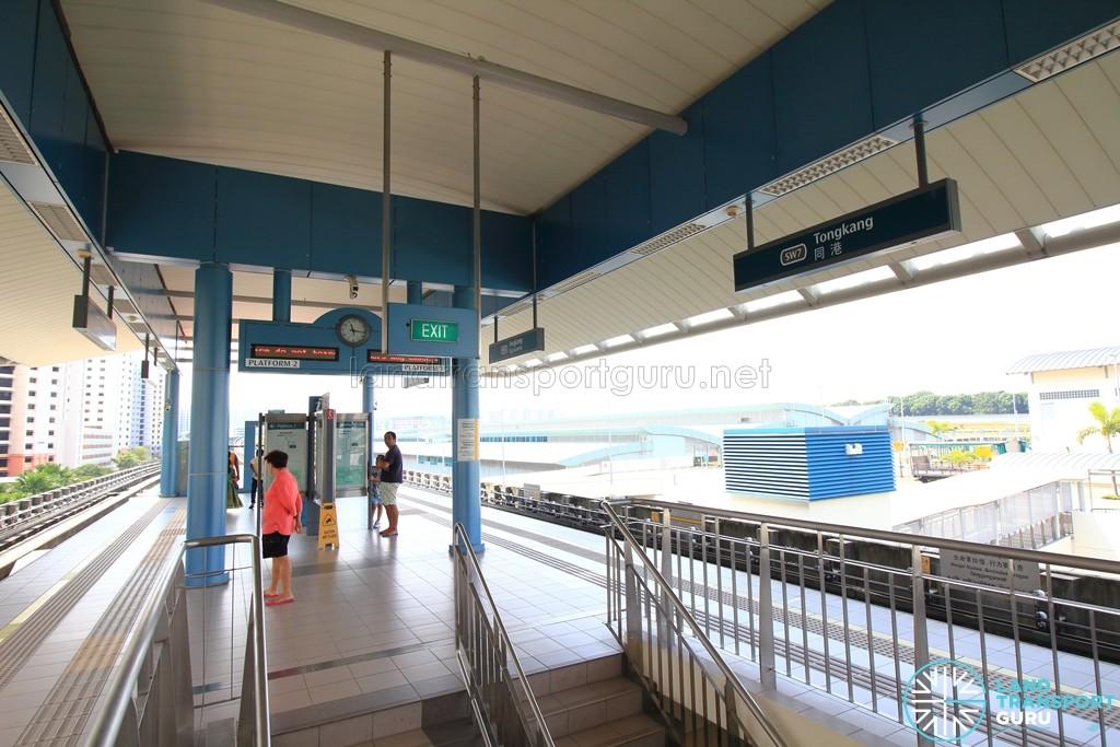 Tongkang LRT Station - Platform level