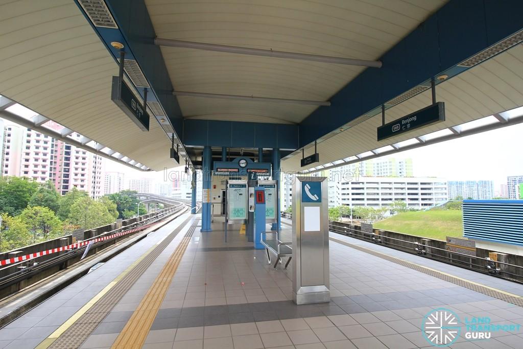 Renjong LRT Station - Platform level