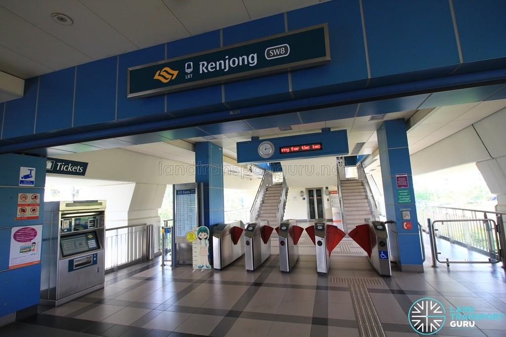 Renjong LRT Station - Concourse level faregates