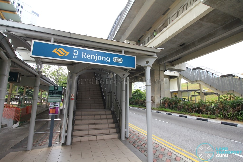 Renjong LRT Station - Exit B