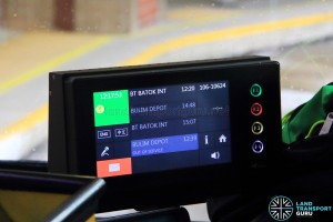 Trapeze CFMS Driver Display Unit onboard Service 106 (106-10624) (Split shift)