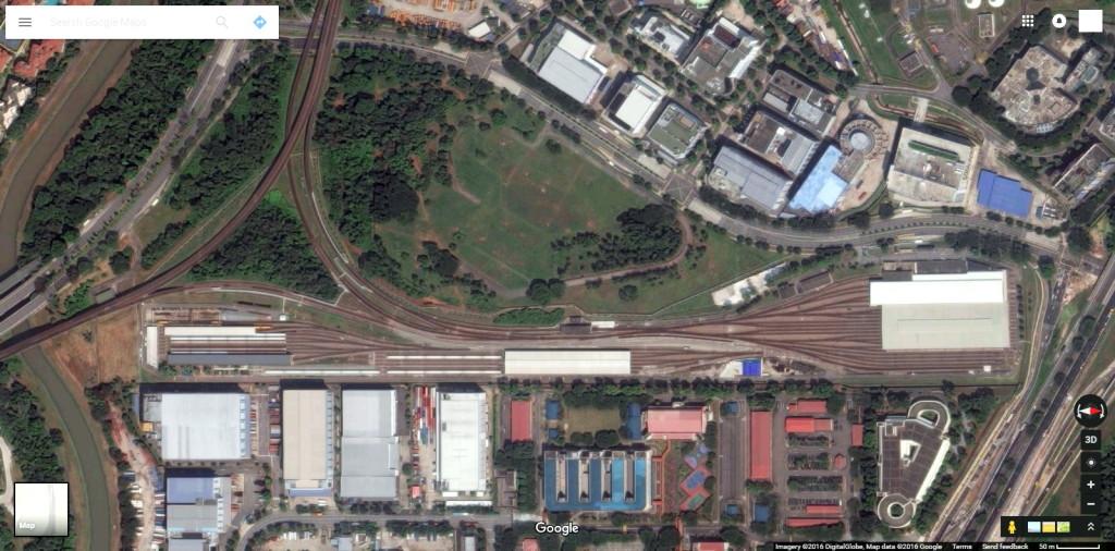 Satellite view of Ulu Pandan Depot