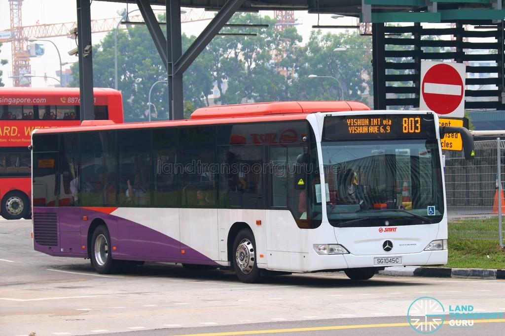 SG1045C on 803 - SMRT Buses Mercedes-Benz Citaro