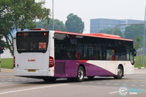 Rear: SG1050L on 811 - SMRT Buses Mercedes-Benz Citaro