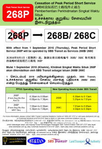 Withdrawal of 268P Poster - Renumbering to Service 268B and 268C