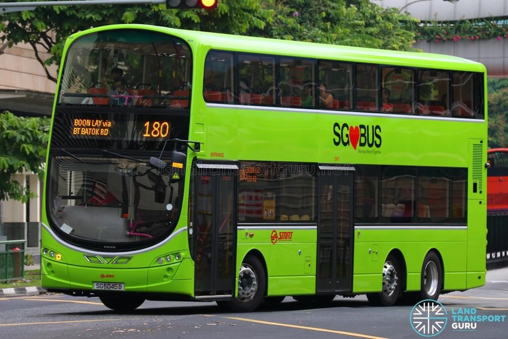 SG5045B on 180 - SMRT Buses Volvo B9TL, Wright Eclipse Gemini II body