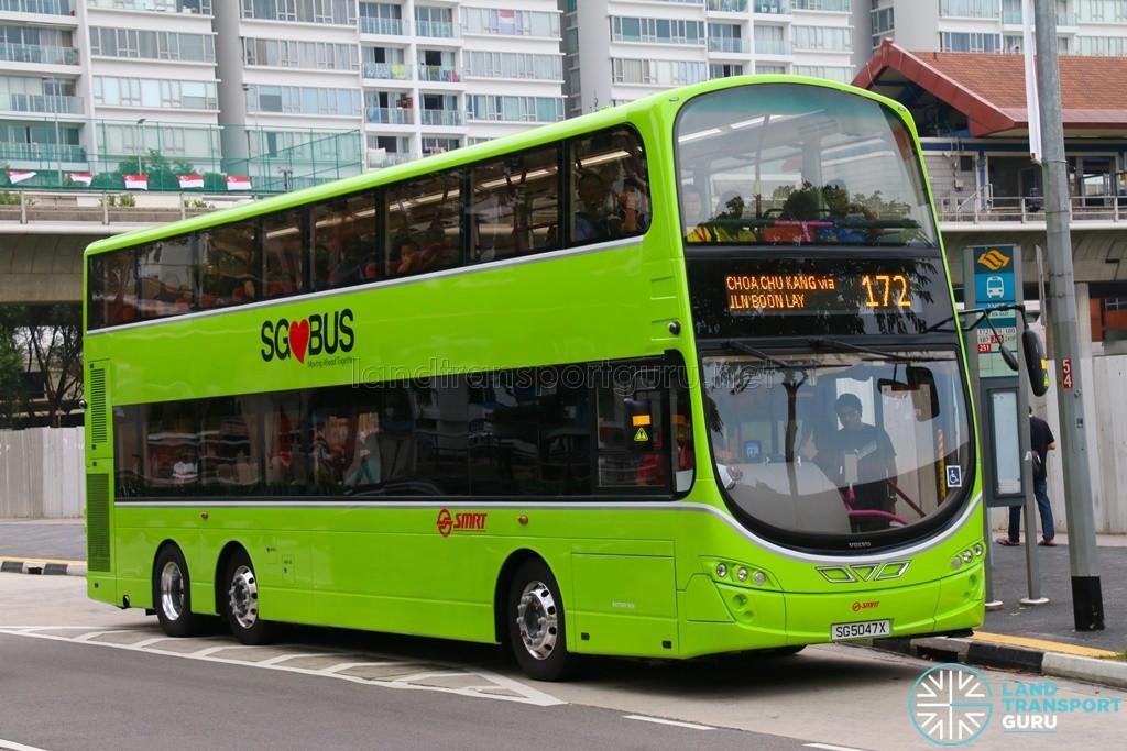 SG5047X on 172 - SMRT Buses Volvo B9TL, Wright Eclipse Gemini II body