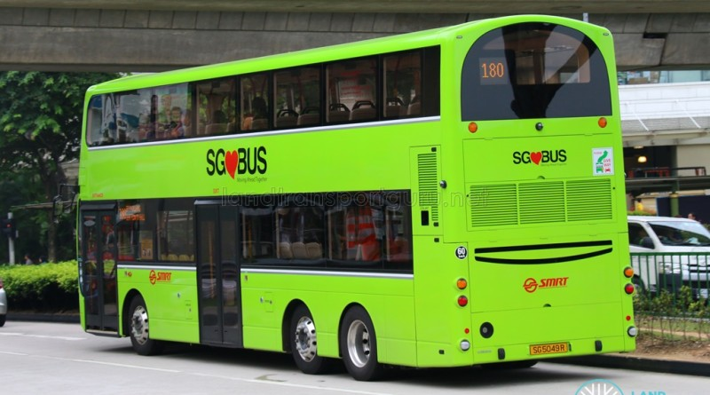 SG5049R on 180 - SMRT Buses Volvo B9TL, Wright Eclipse Gemini II body (Rear View)