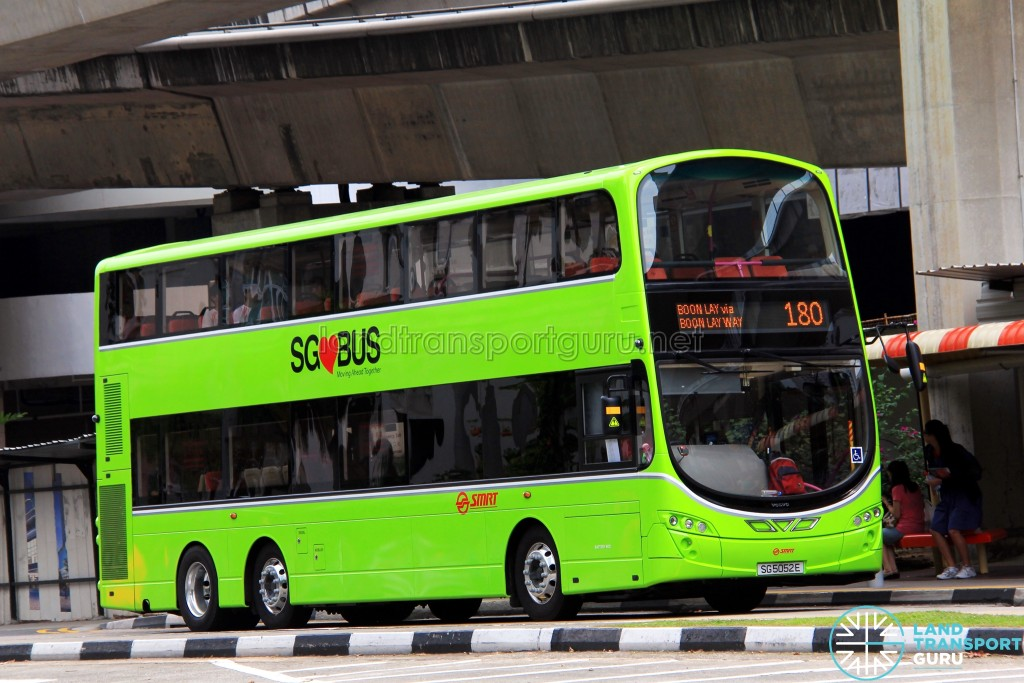 Service 180 is one of 33 bus services under the Choa Chu Kang–Bukit Panjang Bus Package