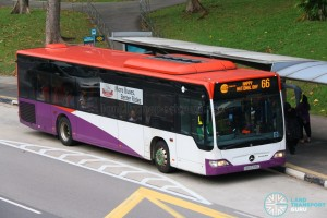 Tower Transit Mercedes-Benz Citaro O530 (SBS6376C) - Service 66 with National Day Message