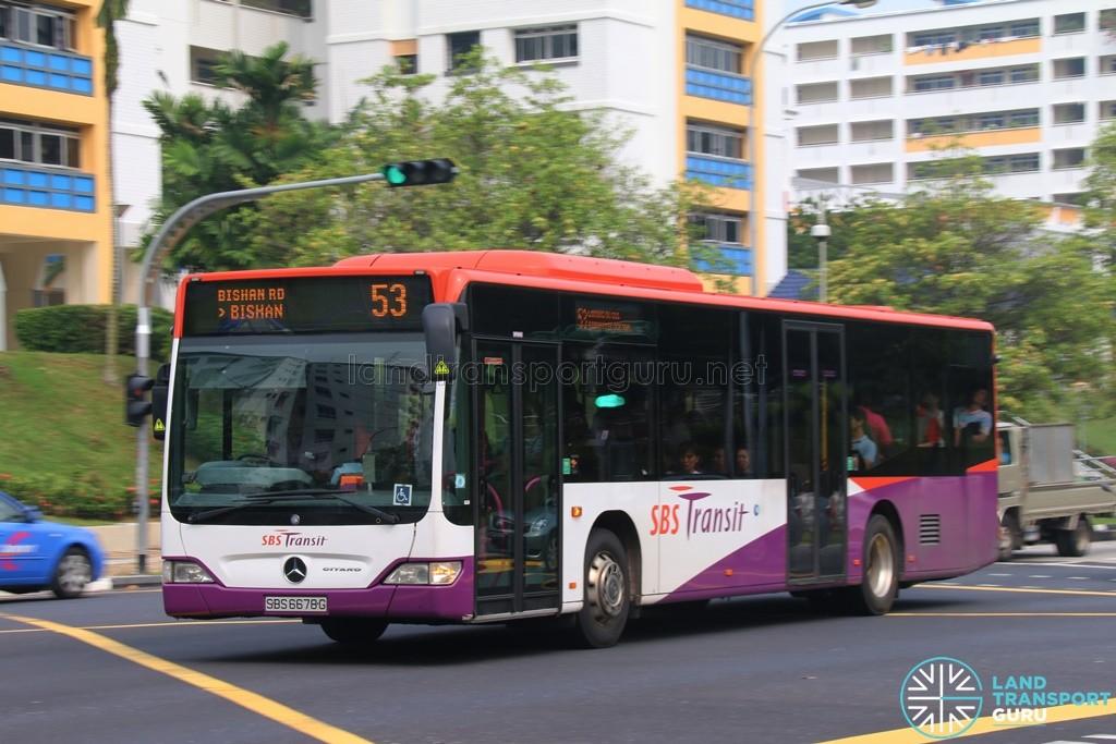 SBST Mercedes-Benz O530 Citaro (SBS6678G) - Service 53