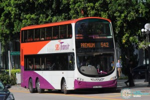 SBS7557R on Bus Service 542 - Volvo B9TL Wright