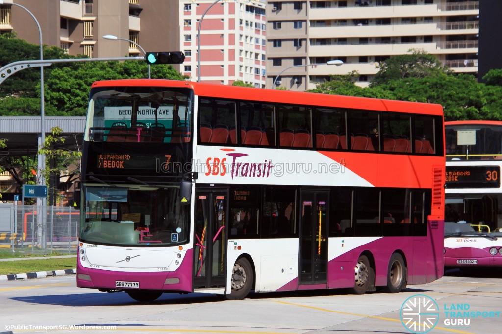 SBS Transit Bus Service 7 - Volvo B9TL Gemilang (SBS7777Y)