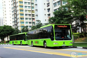 Go-Ahead Singapore Training Buses at Punggol