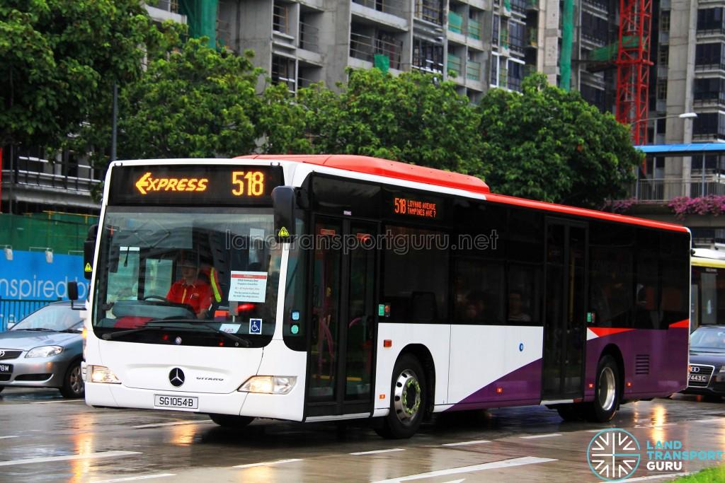 Go-Ahead Mercedes-Benz Citaro (SG1054B) - Express 518