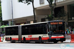 SMRT Mercedes-Benz O405G Hispano Habit (TIB1129P) - Express Service 850E