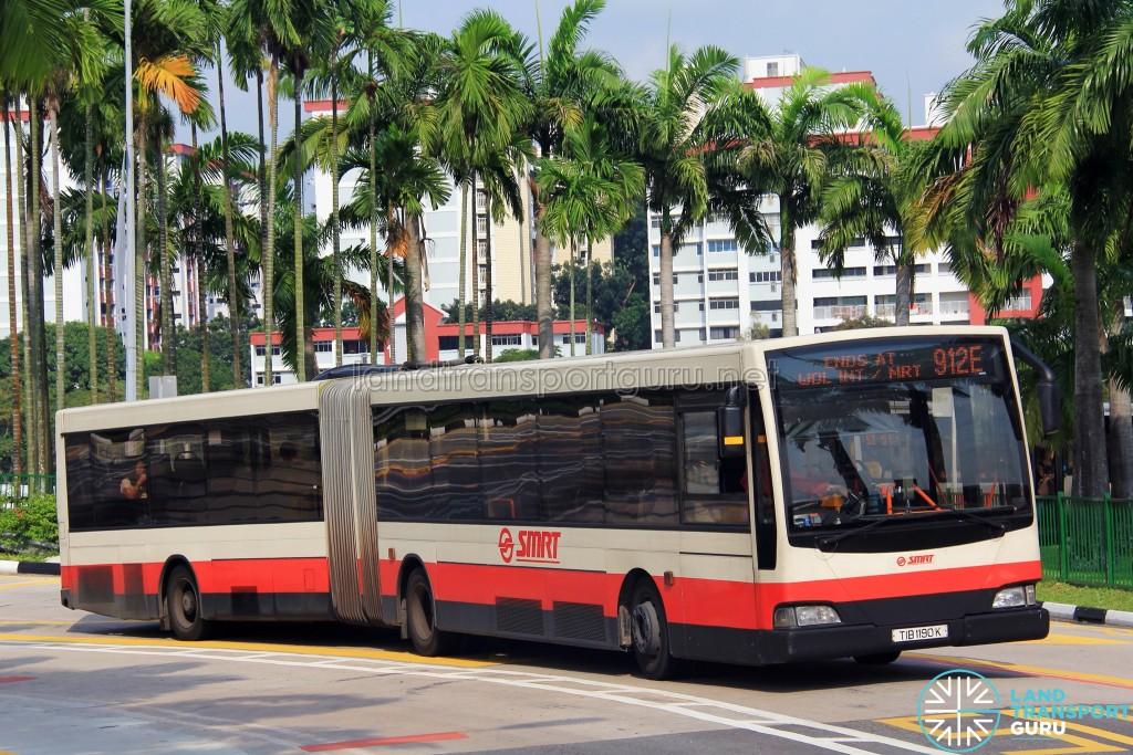 SMRT Mercedes-Benz O405G Volgren (TIB1190K) - Service 912E