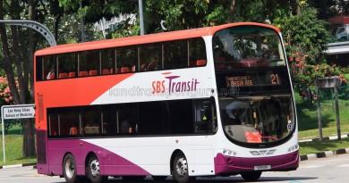 SBS Transit Volvo B9TL Wright (SBS13P) - Service 21