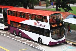SBS Transit Volvo B9TL Wright (SBS13P) - Service 55