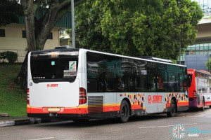 Rear of SMRT Mercedes-Benz Citaro (SMB140P) - Service 855