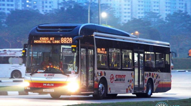 SMRT MAN NL323F (SMB1501A) - Service 882A